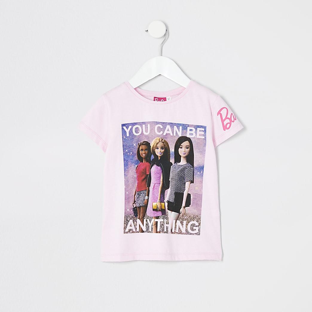 Mini - BarbieT-shirt met 'be anything'-print voor meisjes