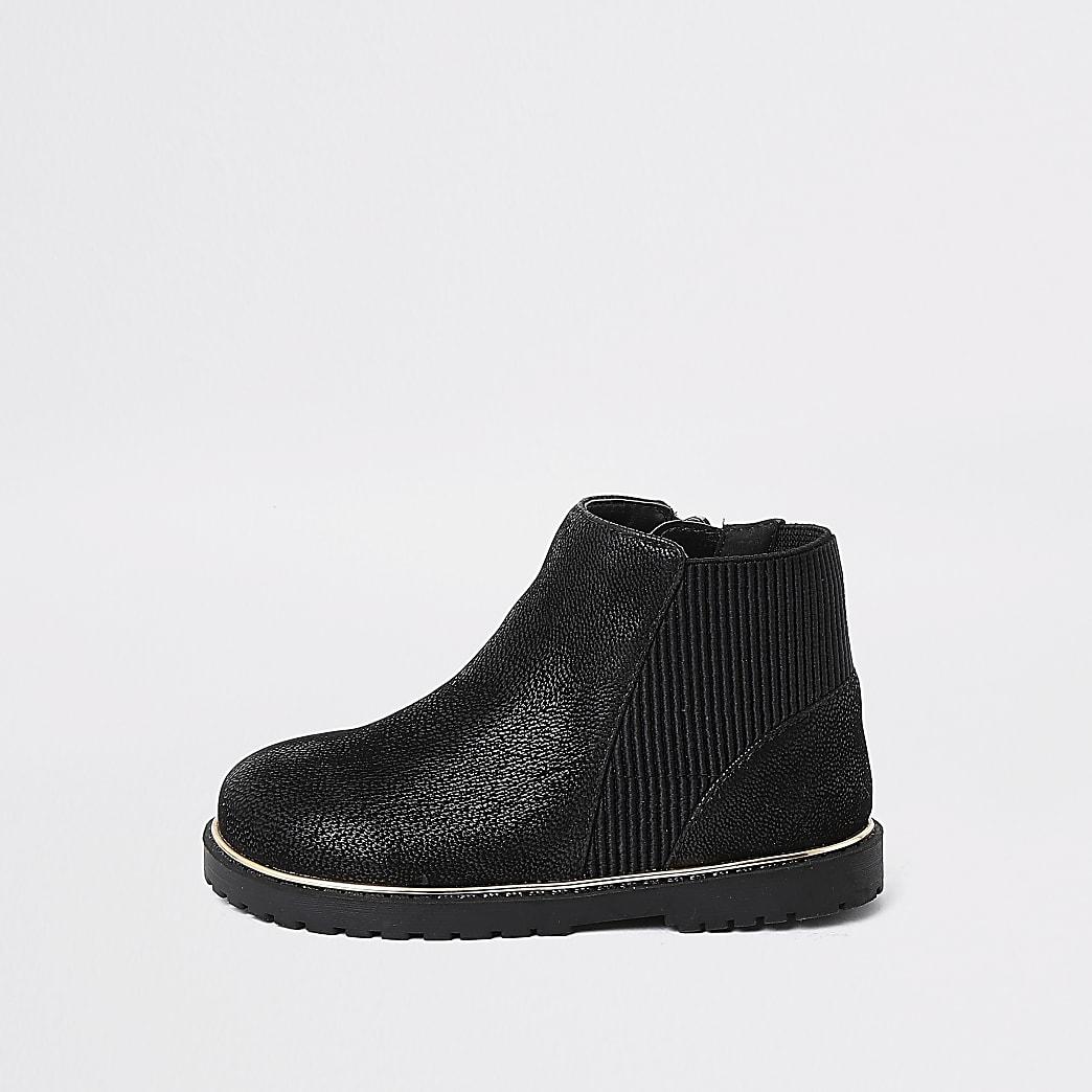 Mini girls black boots