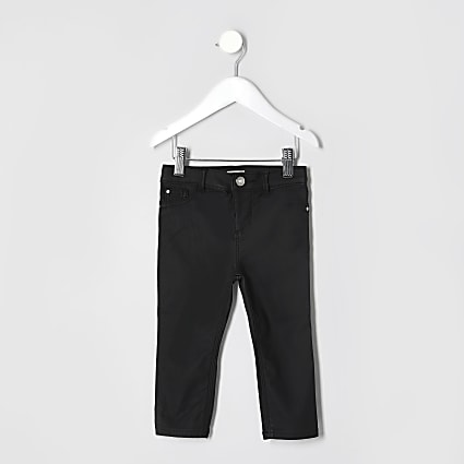 Mini Girls Black Coated Jean