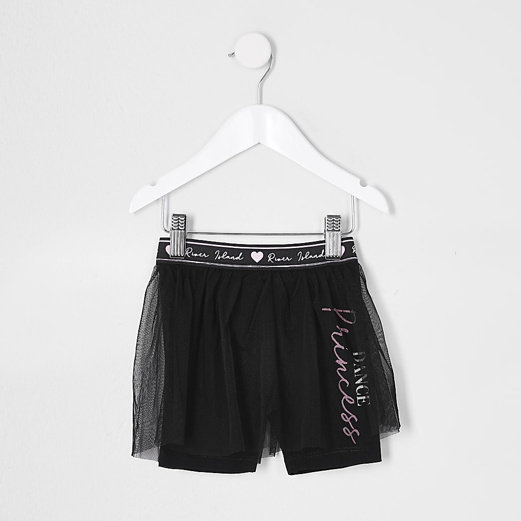 Mini girls black cycle short tutu