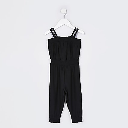 Mini girls black jumpsuit