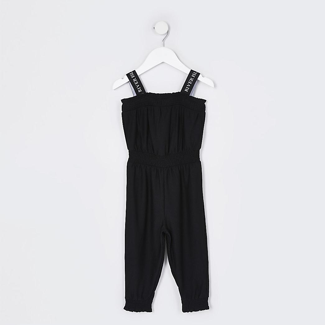 Mini girls black jumpsuit