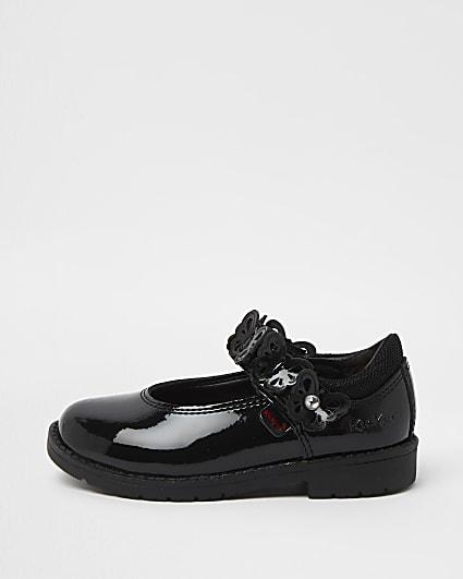 Mini girls black Kickers butterfly shoes