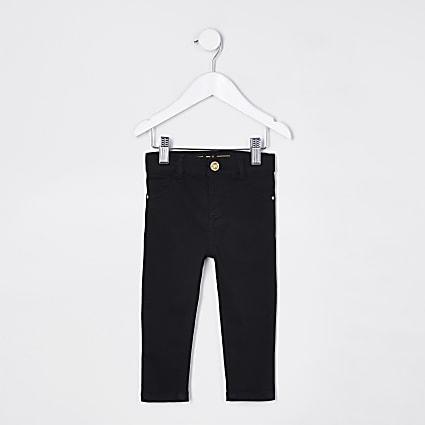 Mini girls black Molly skinny Jeans