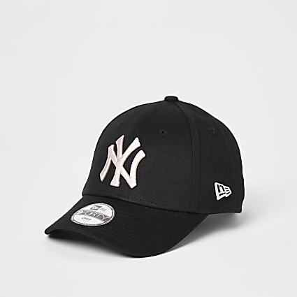 Mini girls black New Era NY cap