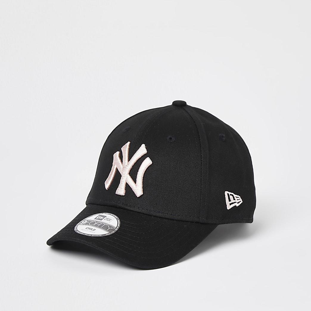 Mini girls black New Era NY cap