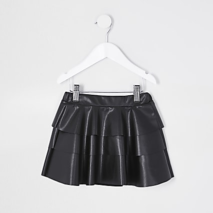 Mini girls black rara skirt