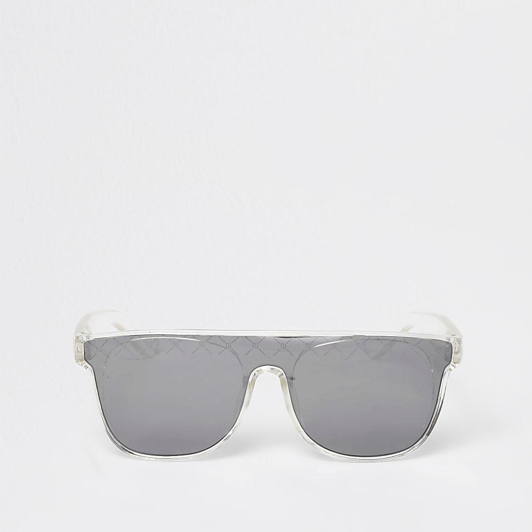 Mini girls black RI diamante visor sunglasses