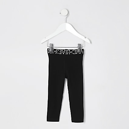 Mini Girls Black RI Waistband Legging