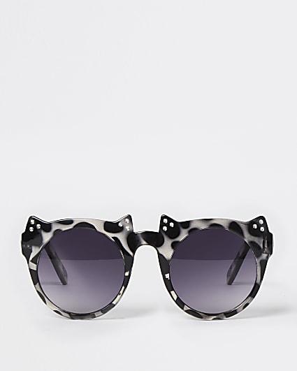 Mini girls black tortoise cat eye sunglasses