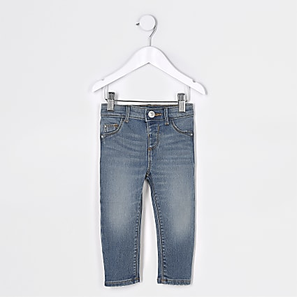 Mini girls blue Amelie mid rise jeans