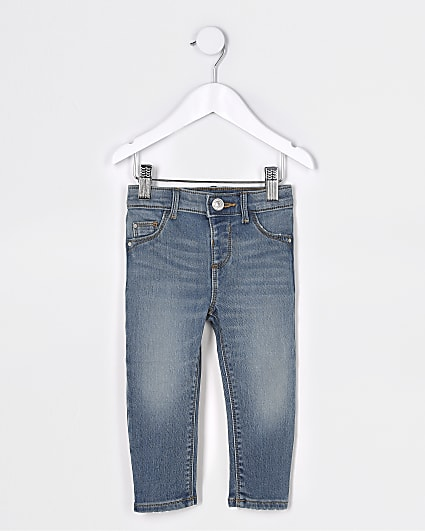 Mini girls blue comfort mid rise jeans