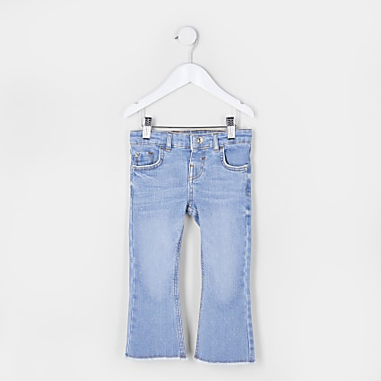 Mini girls blue flared jeans