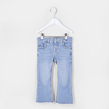 Mini girls blue flared jeans