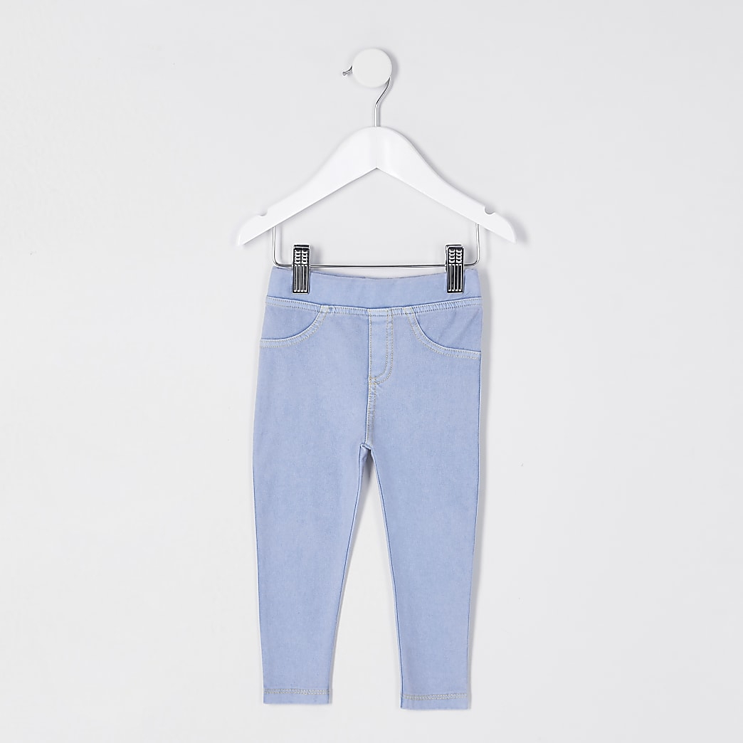 Mini girls blue jeggings
