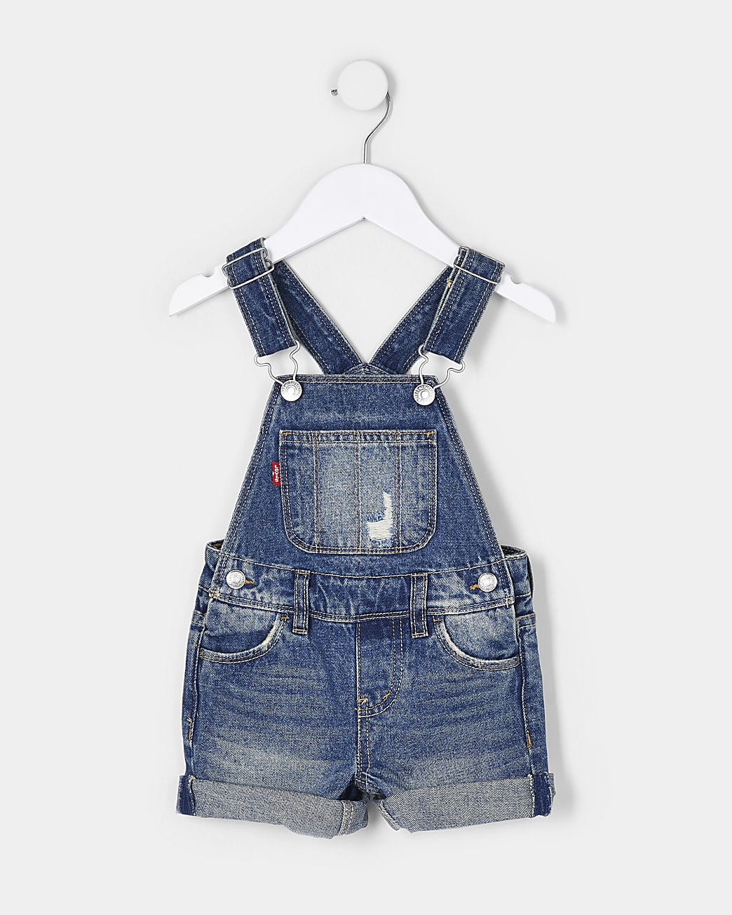 Mini girls blue Levi's denim dungarees