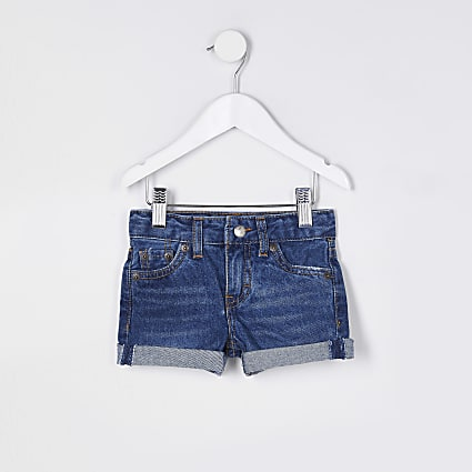 Mini girls blue Levi's denim shorts