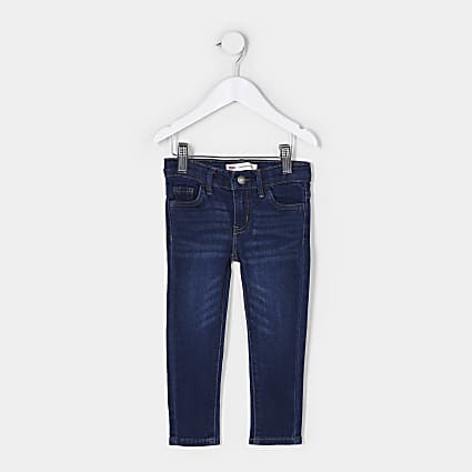 Mini girls blue Levi's skinny jeans