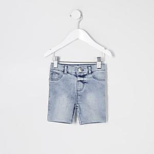 Mini - Blauwe denim Molly fiets-shorts voor meisjes