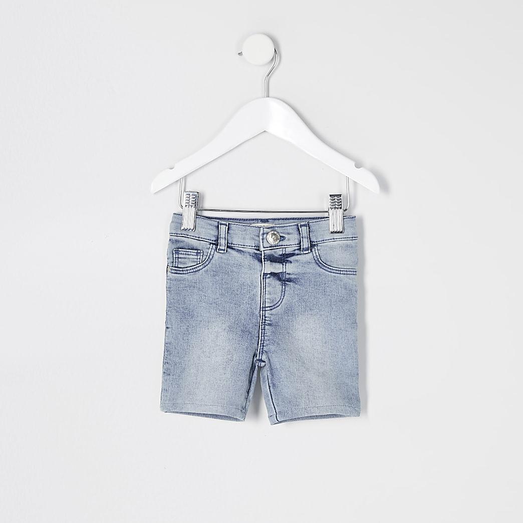 Mini girls blue Molly denim cycling shorts