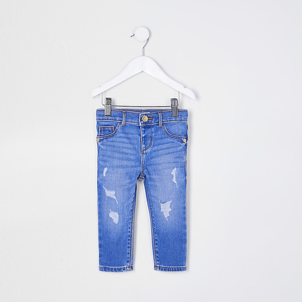 Mini girls blue Molly mid rise jeans