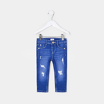 Mini girls blue Molly skinny jeans