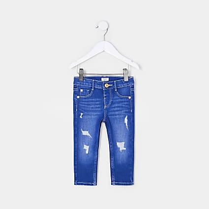 Mini girls blue Molly skinny jeans