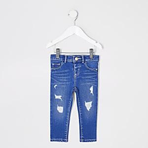 Mini - Blauwe rippedMolly jeans voor meisjes