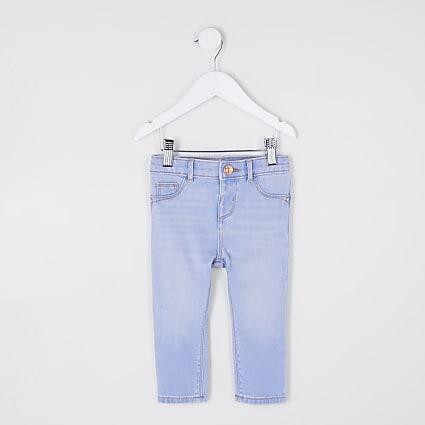 Mini girls blue skinny fit jeans