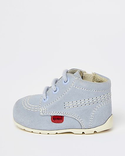Mini girls blue suede Kickers shoes