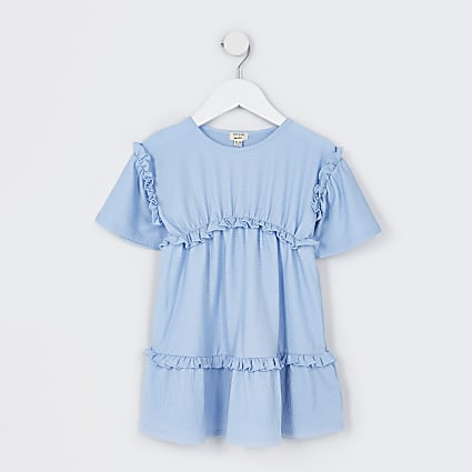 Mini girls blue t-shirt dress