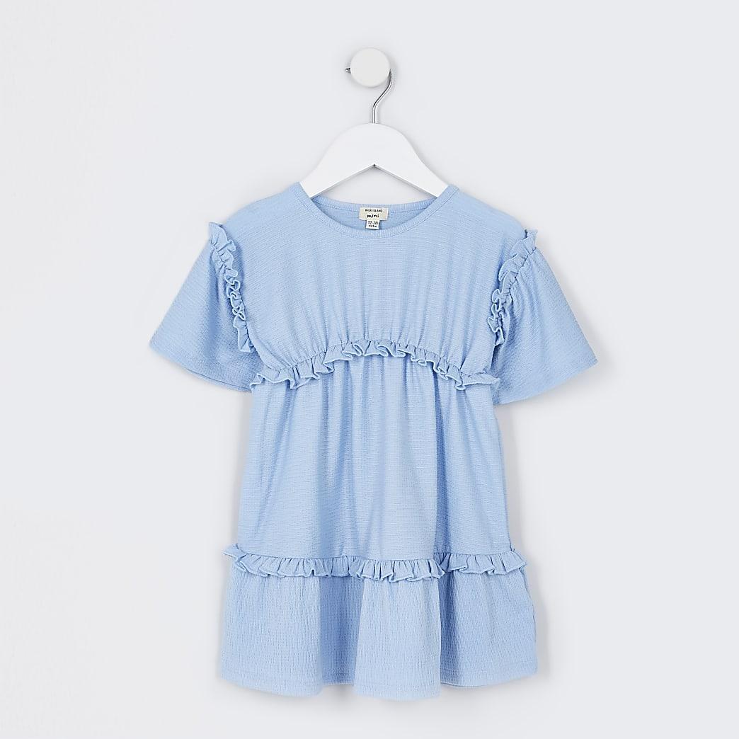 Mini girls blue t-shirt dress