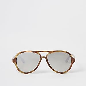 Mini – Braune Pilotensonnenbrille für Mädchen