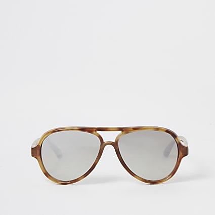 Mini girls brown aviator sunglasses