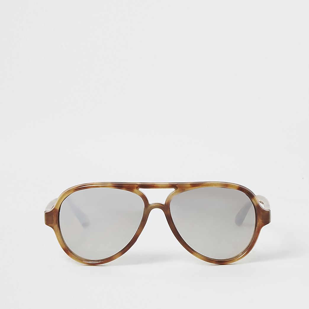 Mini -Bruine pilotenzonnebril voor meisjes