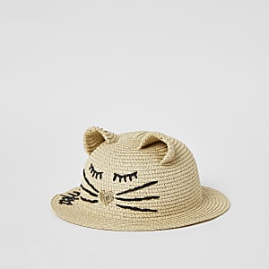 Chapeau chat marron « Purrrfect » Mini fille