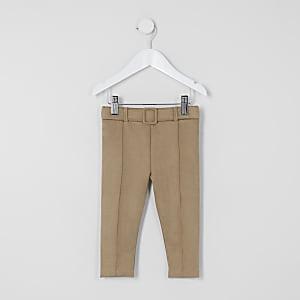 Leggings ensuédinemarron avec ceinture Minifille
