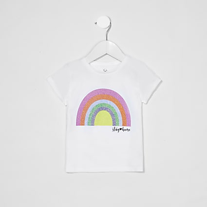 Mini Girls Charity Rainbow Tee 'Be Kind'
