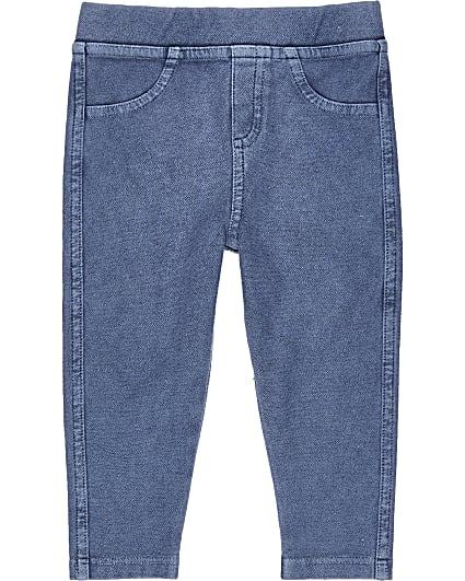 Mini girls denim blue leggings