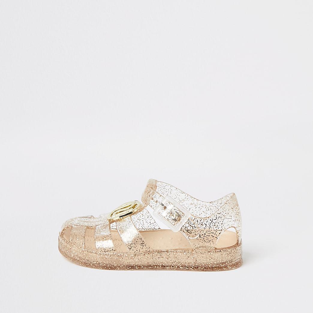 Mini - Transparante jelly sandalen met RI-embleem voor meisjes