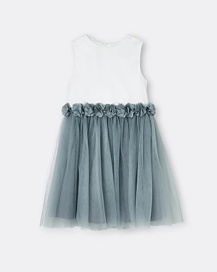 Mini girls grey Chi Chi floral dress