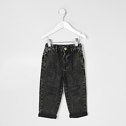 Mini girls grey mom jean