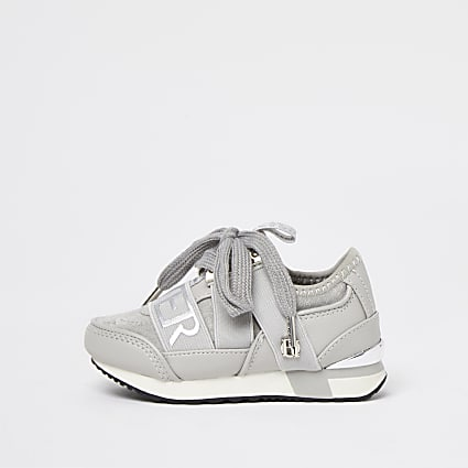 Mini girls grey RI branded runners