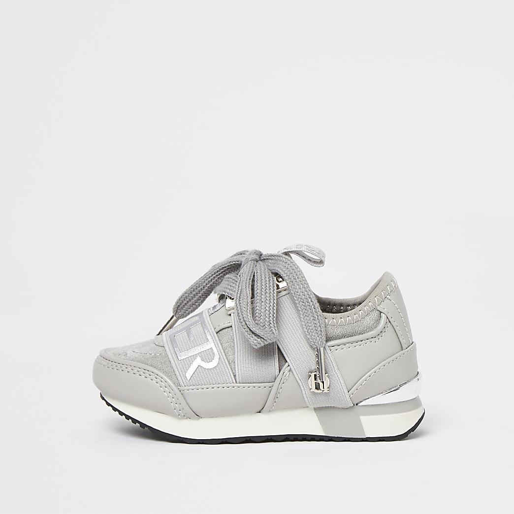 Mini girls grey RI branded runners