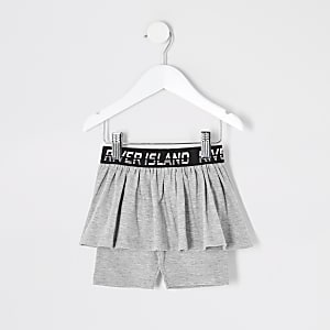Mini – Graue Radlerhose-Rock-Kombi von RI für Mädchen