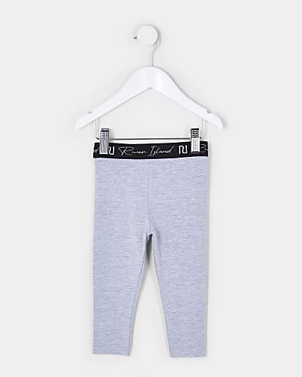Mini girls grey RI leggings