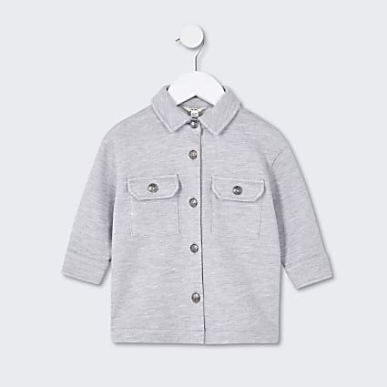 Mini girls grey shacket