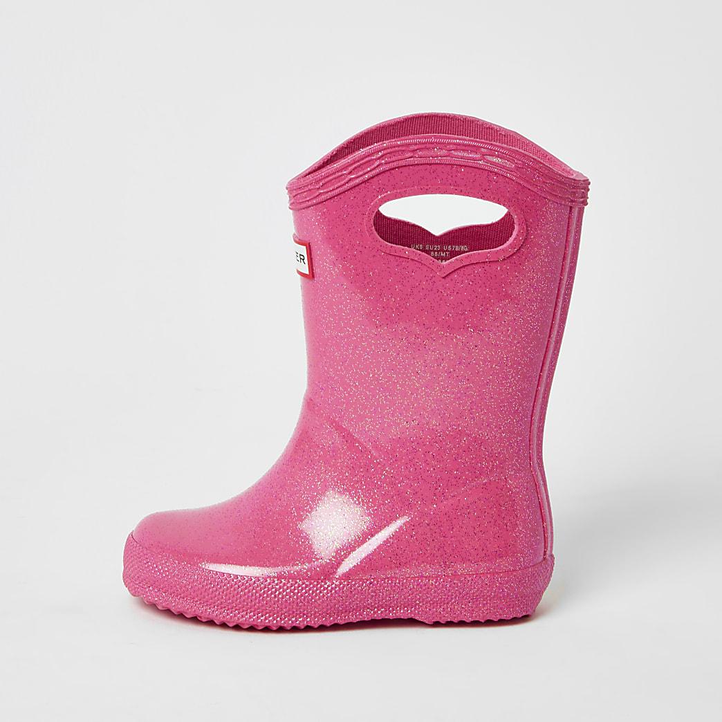 Hunter Original - Roze regenlaarzen voor mini-meisjes