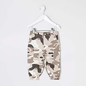Mini - Kaki camouflage utility broek voor meisjes