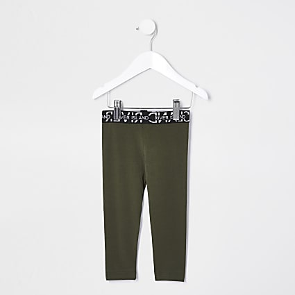 Mini girls khaki leggings